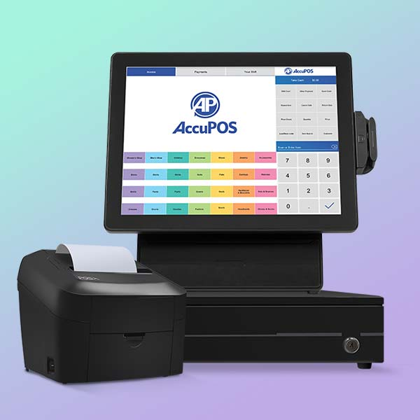 AccuPOS Point of Sale retail POS software and hardware bundle