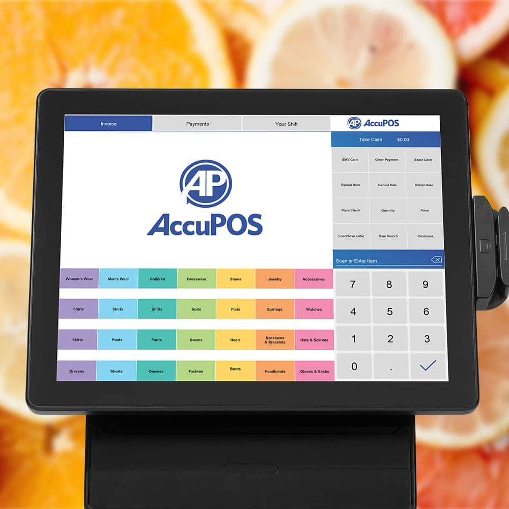 MapleTouch all-in-one touchscreen point of sale with AccuPOS software