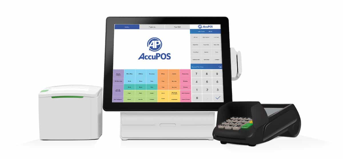 AccuPOS connected to merchant services for complete hardware and software integrations