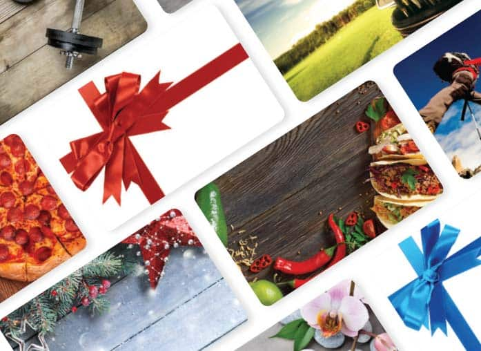 Customize your gift cards with branding, colorful carriers, and reloadable amounts