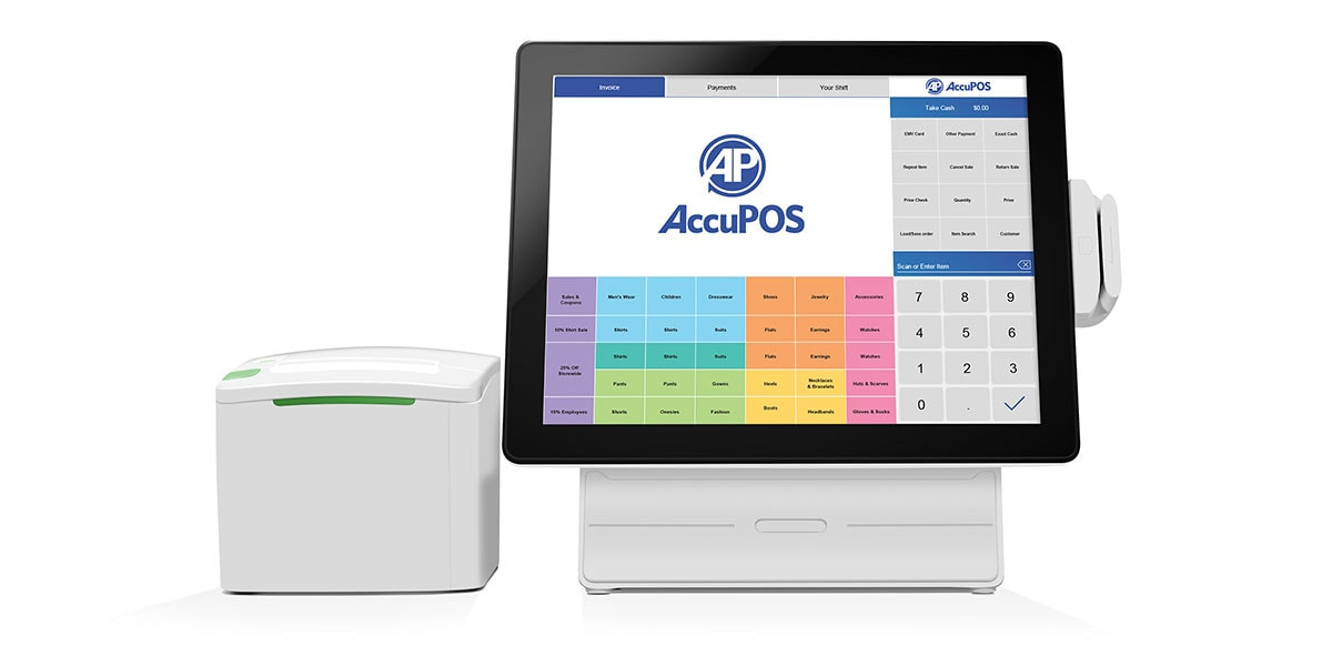 AccuPOS Point of Sale on Windows desktop device