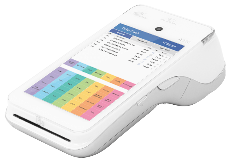 Android POS device for retail businesses by AccuPOS Point of Sale