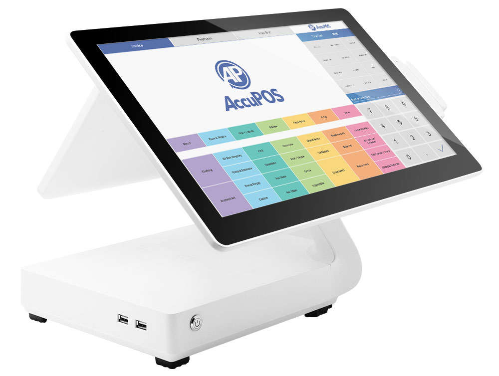 AccuPOS Point of Sale on Android desktop device