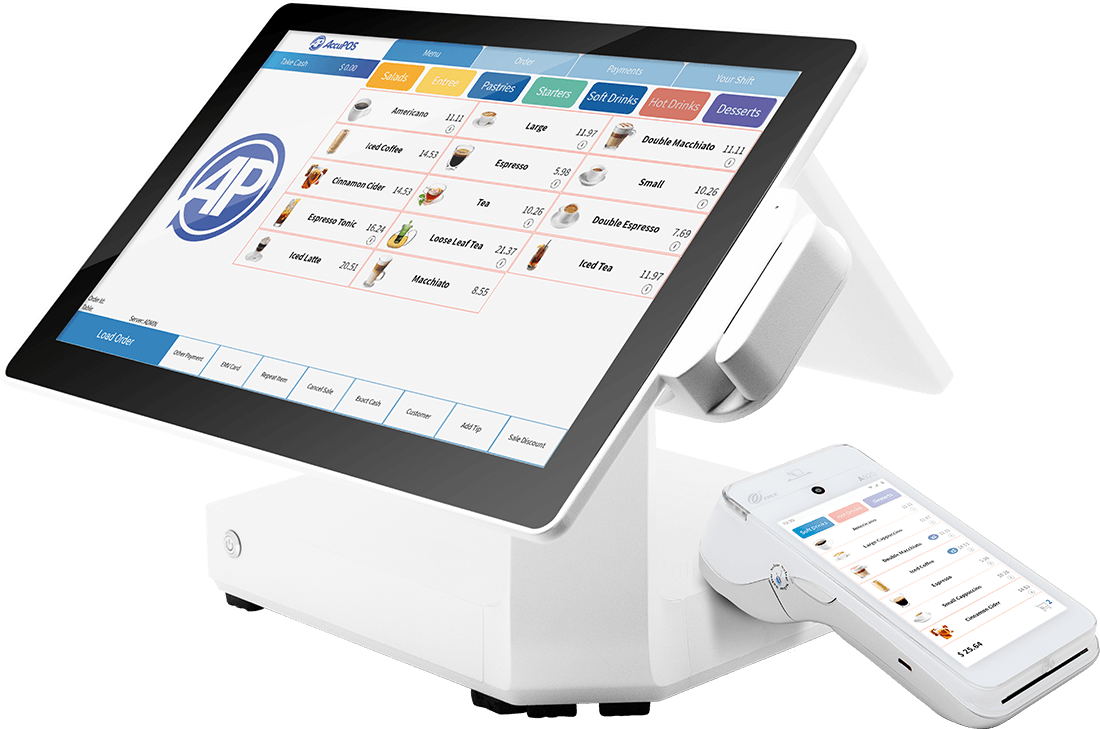 AccuPOS Point of Sale devices for desktop and mobile retail restaurant businesses