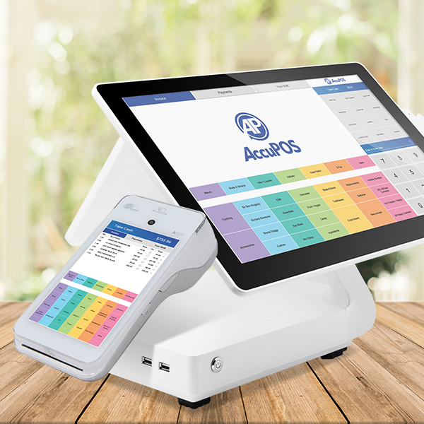 AccuPOS Android point of sale devices for desktop and mobile use