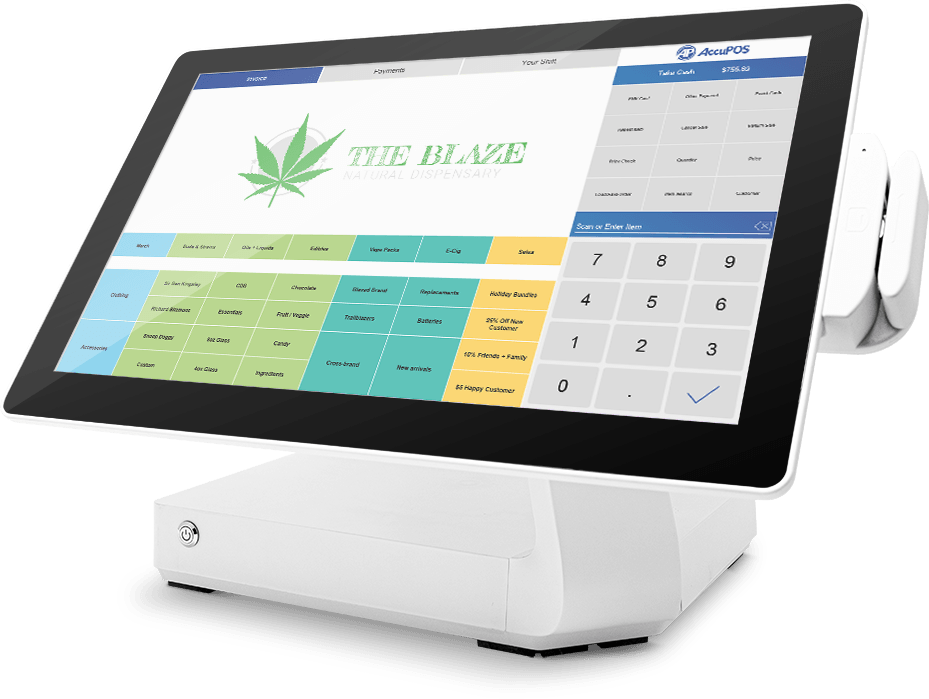 AccuPOS optimized POS system for medical dispensaries